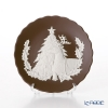 Wedgwood 'Jasperware - Brown' Merry Christmas (Tree & Stag) Festival Tray 12.5cm