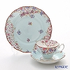Royal Albert 'Candy - Sitting Pretty' Light Blue Tea Cup & Saucer, Plate (set of 2 for 1 person)