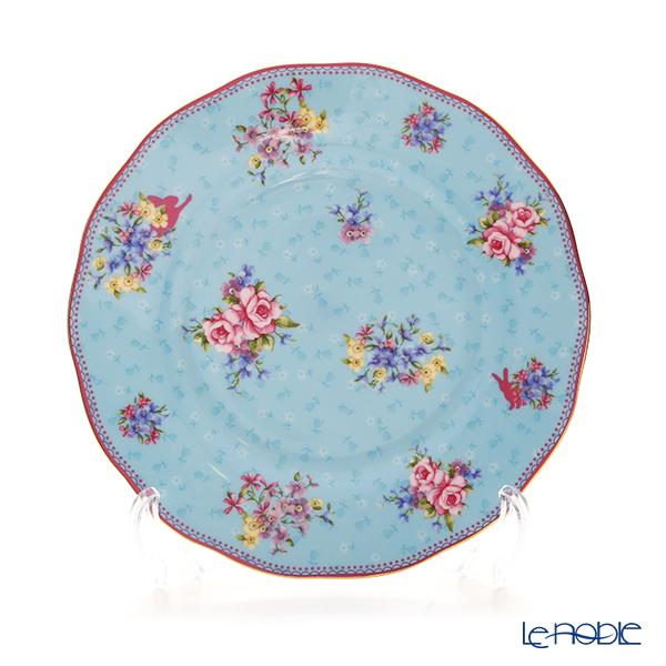 Royal Albert 'Candy' Honey Bunny - Blue Tea Cup & Saucer, Plate (set of 2)