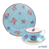 Royal Albert 'Candy - Honey Bunny' Blue Tea Cup & Saucer, Plate (set of 2 for 1 person)