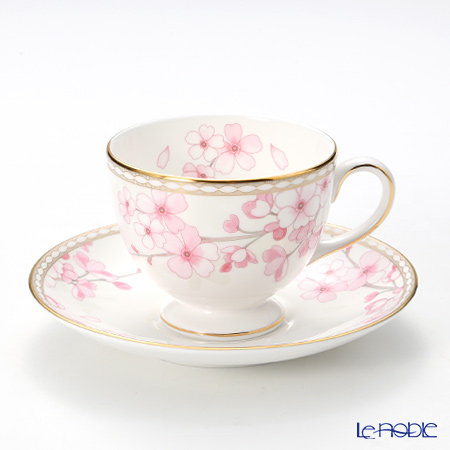 Wedgwood 'Spring Blossom (Cherry Blossom)' Leigh Tea Cup & Saucer 200ml
