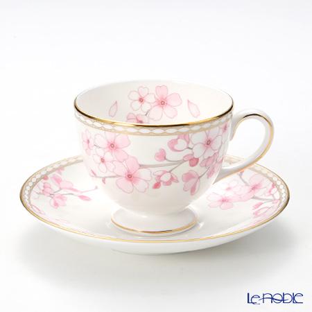 Wedgwood 'Spring Blossom' Leigh Tea Cup & Saucer 200ml