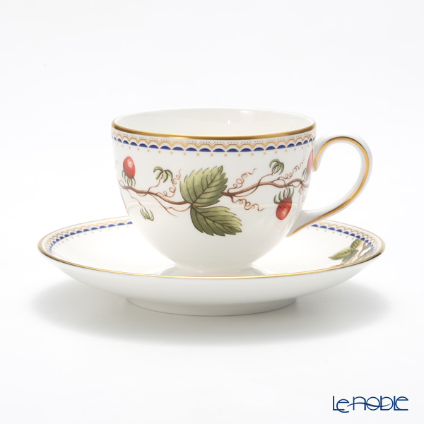 Wedgwood Wild Strawberry Archive Leigh shape Tea Cup & Saucer 150ml