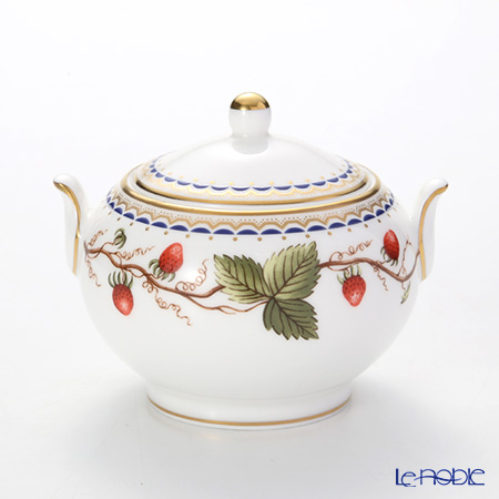 Wedgwood 'Wild Strawberry Archive' Sugar Box 8cm (S)