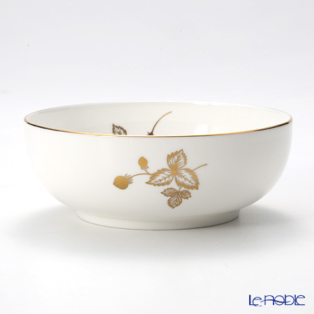 Wedgwood 'Wild Strawberry Al Fresco' Gold Bowl 14cm
