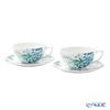 Wedgwood 'Jasper Conran Chinoiserie' White Tea Cup & Saucer 300ml (set of 2)