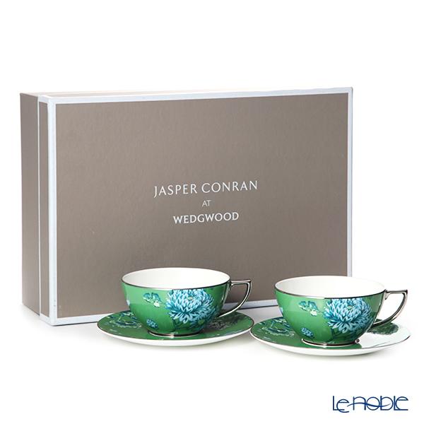 Wedgwood 'Jasper Conran Chinoiserie' Green Tea Cup & Saucer 300ml (set of 2)