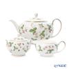 Wedgwood 'Wild Strawberry' Tea Pot, Sugar Box, Creamer (set of 3)