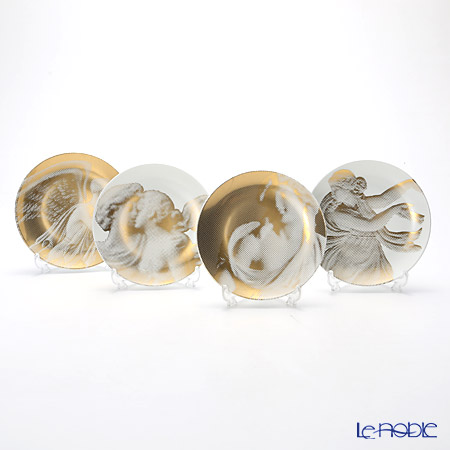 Wedgwood Gilded Muse Coupe Plates 17cm, Set of 4