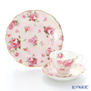 Royal Albert '100 Years Of Royal Albert - 1980 Rose Blush' Pink Tea Cup & Saucer, Plate (set of 2 for 1 person)