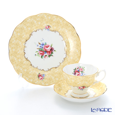 Royal Albert '100 Years Of Royal Albert - 1990 Bouquet' Tea Cup & Saucer, Plate (set of 2)