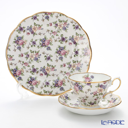Royal Albert 100 Years Of Royal Albert 1940 English Chintz 3-Piece Set, NEW