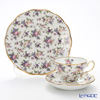 Royal Albert '100 Years Of Royal Albert - 1940 English Chintz New' Ivory White Tea Cup & Saucer, Plate (set of 2 for 1 person)