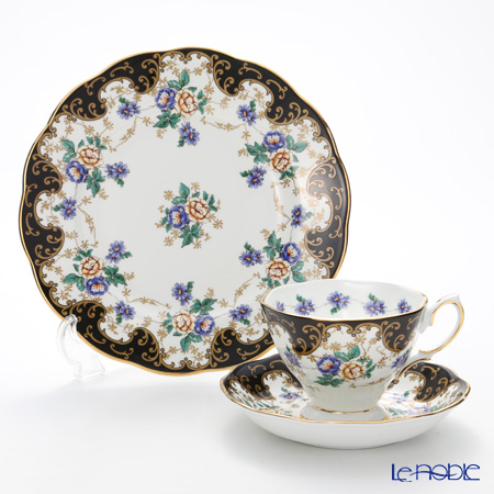 Royal Albert '100 Years Of Royal Albert - 1910 Duchess New' Tea Cup & Saucer, Plate (set of 2)