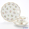 Royal Albert '100 Years Of Royal Albert - 1920 Spring Meadow New' Ivory White Tea Cup & Saucer, Plate (set of 2 for 1 person)