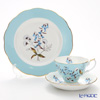 Royal Albert '100 Years Of Royal Albert - 1950 Festival New' Light Blue Tea Cup & Saucer, Plate (set of 2 for 1 person)