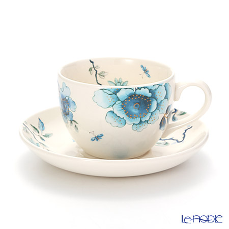 Wedgwood Blue Bird Teacup & Saucer, Gift Boxed