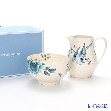Wedgwood Blue Bird Cream & Sugar Set, Gift Boxed