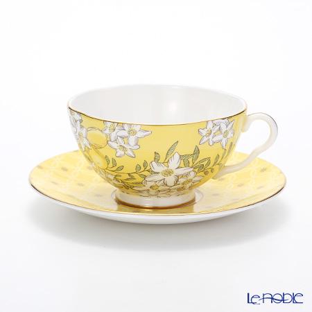 Wedgwood 'Tea Garden - Lemon & Ginger' Yellow Tea Cup & Saucer