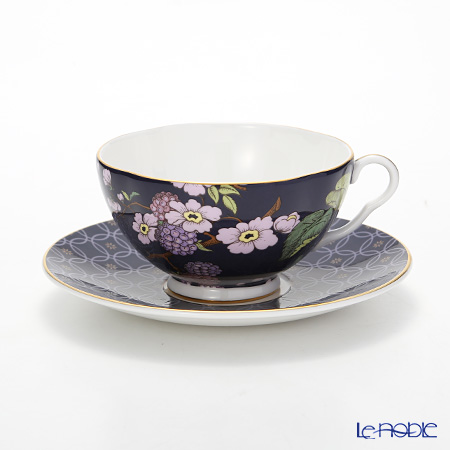 Wedgwood 'Tea Garden - Blackberry & Apple' Purple Tea Cup & Saucer