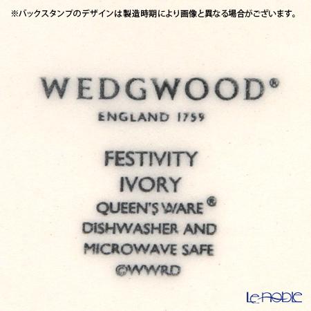 ウェッジウッド(Wedgwood) フェスティビティ アイボリースクエアディッシュ 12cm