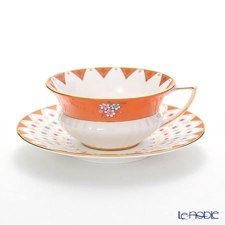 ウェッジウッド(Wedgwood) ハーレクィーンコレクション(ワンダーラスト) ピオニーダイヤモンド ティーカップ&ソーサー