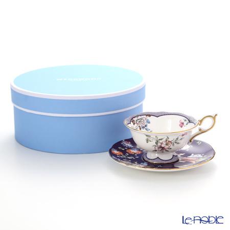 ウェッジウッド(Wedgwood) ハーレクィーンコレクション(ワンダーラスト)ミッドナイトクレーン ティーカップ&ソーサー