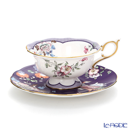 ウェッジウッド(Wedgwood) ハーレクィーンコレクション(ワンダーラスト)ミッドナイトクレーン ティーカップ