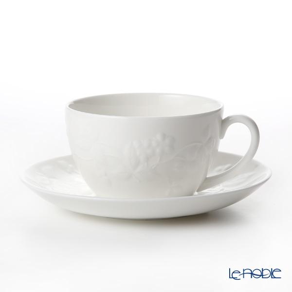 ウェッジウッド(Wedgwood) ワイルドストロベリー ホワイト ティーカップ&ソーサー 300ml