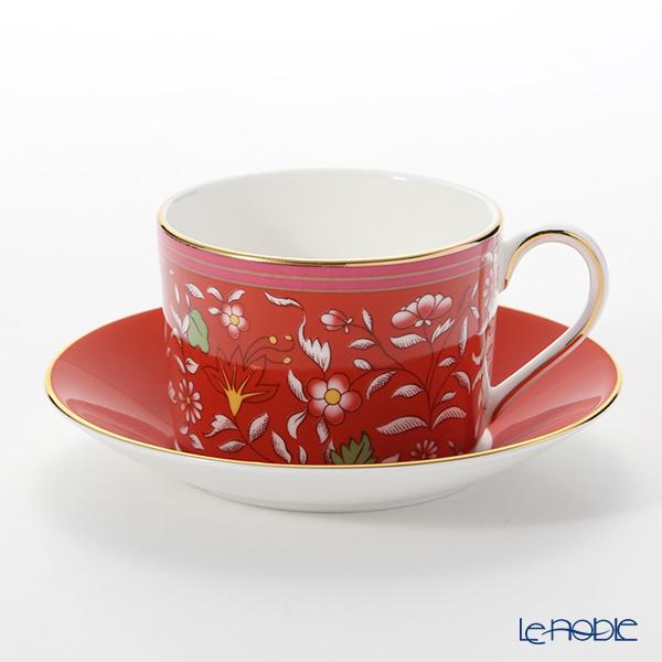 Wedgwood 'Wonderlust - Crimson Jewel' Red Tea Cup & Saucer 150ml