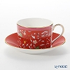 Wedgwood Wonderlust Crimson Jewel Tea Cup & Saucer Set