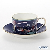 Wedgwood Wonderlust Blue Pagoda Tea Cup & Saucer Set