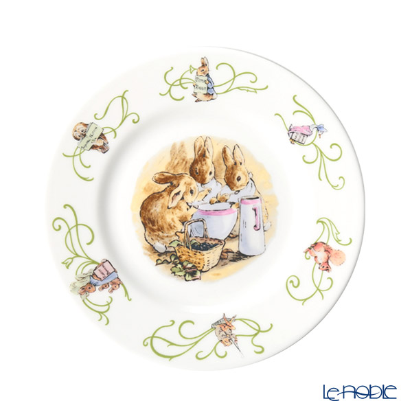 Wedgwood 'Peter Rabbit' Green Line Plate 17.5cm [70th year Limited Production]