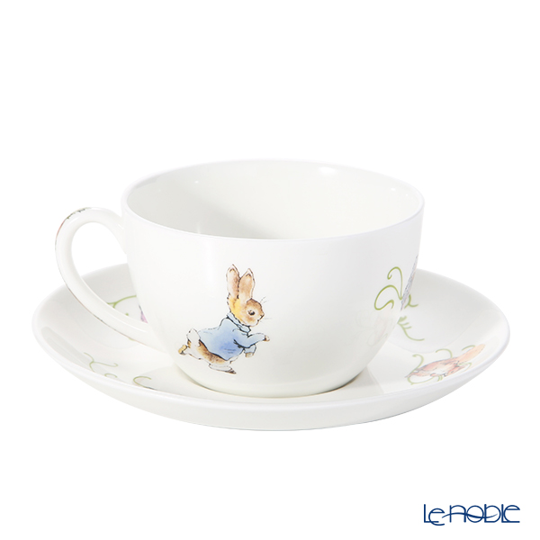 Wedgwood 'Peter Rabbit' Green Line Tea Cup & Saucer 300ml [70th year Limited Production]