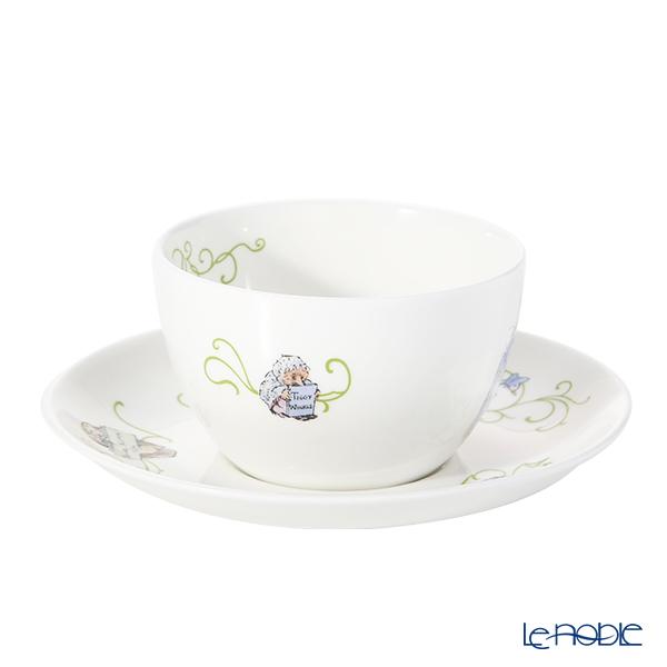 ウェッジウッド(Wedgwood) ピーターラビット グリーンラインティーカップ&ソーサー