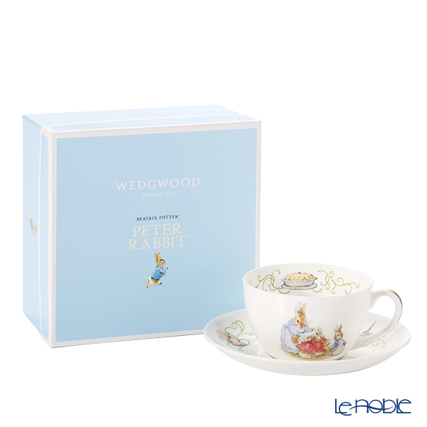 Wedwood Peter Rabbit Green Line Tea Cup & Saucer