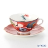 Wedgwood Paeonia Blush Teacup & Saucer Red 250 cc