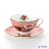 Wedgwood 'Paeonia Blush' Coral Pink Tea Cup & Saucer 250ml