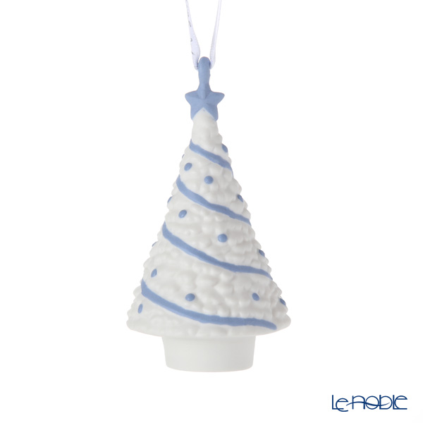 Wedgwood 'Christmas - Christmas Tree' White x Blue Ornament