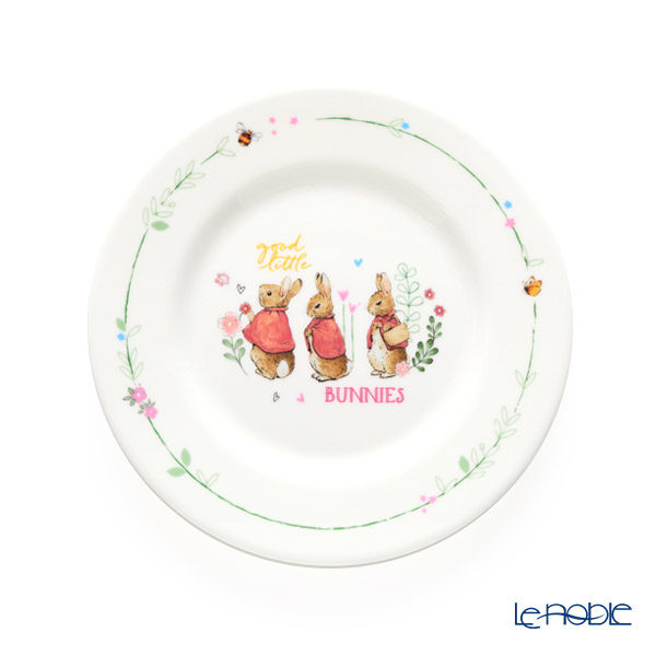 Wedgwood 'Peter Rabbit - Flopsy & Mopsy & Cottontail' Pink Plate 18cm