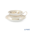 Wedgwood 'Gold Columbia' Peony Tea Cup & Saucer 200ml