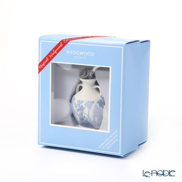 Wedgwood 'Christmas - Portland Vase' White x Blue [2019] Ornament H8cm