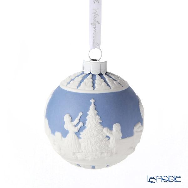 ウェッジウッド(Wedgwood) ホリデイ オーナメント ボール クリスマスデコレーション8.3cm ブルー 2020年/令和2年
