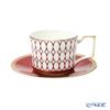 Wedgwood 'Renaissance Red' Tea Cup & Saucer 220ml