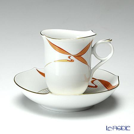 マイセン(Meissen) ウォーターバード レッド 704710/28582 コーヒーカップ&ソーサー 180cc