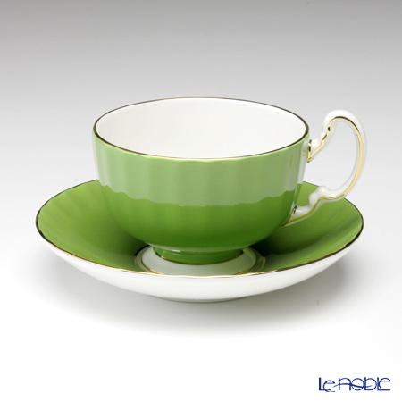 Aynsley Pembroke Oban Teacup & Saucer, mille green #3028