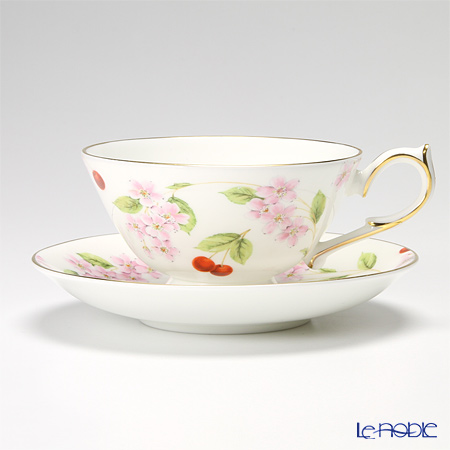 Aynsley Cherry Blossom Athens Teacup & Saucer
