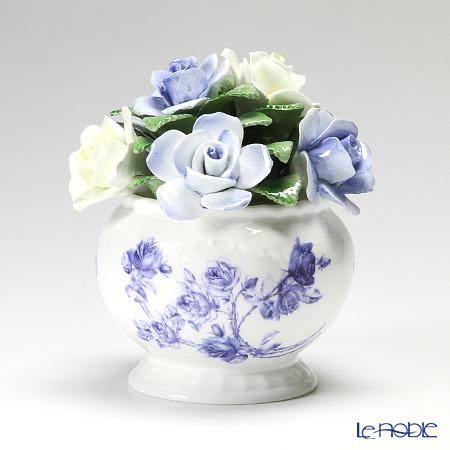 エインズレイ 陶花 エリザベスローズブルーカスケードボウル スモール 12.5cm