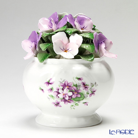 Aynsley English Violets Florals Cascade Bowl MS