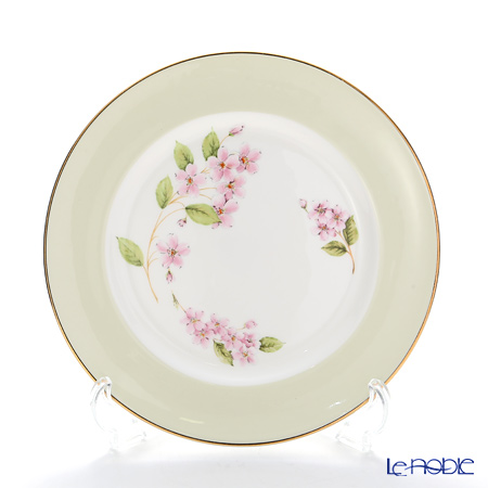 Aynsley Cherry Blossom Green Band Sweet Plate 20 cm